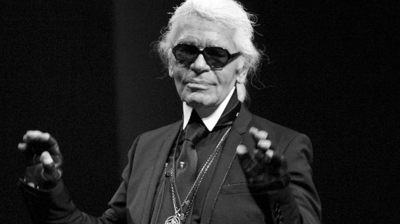 Karl Lagerfeld, immortalisé au Grand Palais